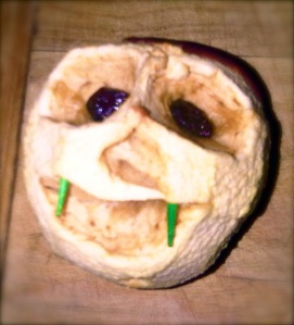 shrunken apple head